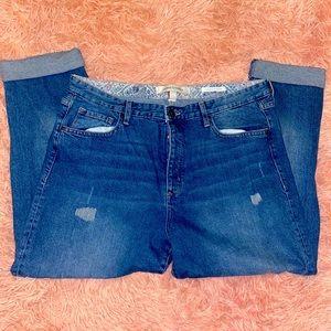 Vintage America boyfriend fit destroyed jeans